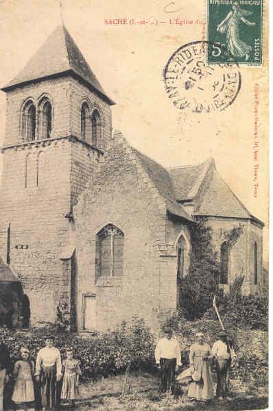Ancienne photo de l'Eglise de Saché